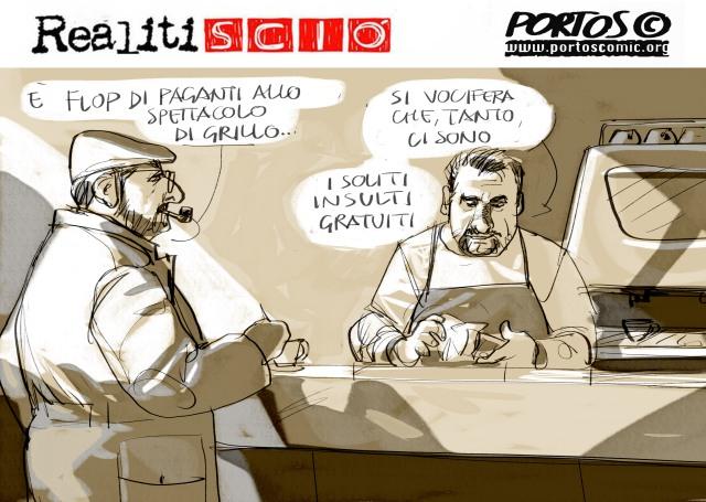 FLOP SPETTACOLO DI Grillo