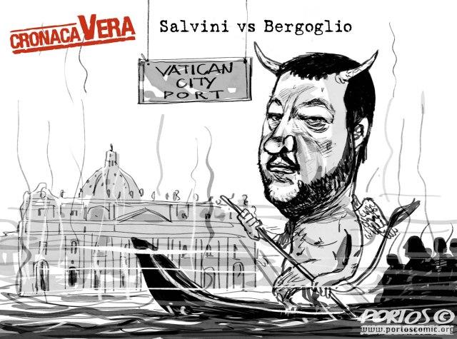 Salvini vs Bergoglio